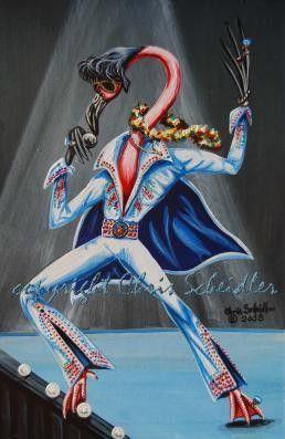 Elvis Impersonator by walnutstreetstudio on Etsy