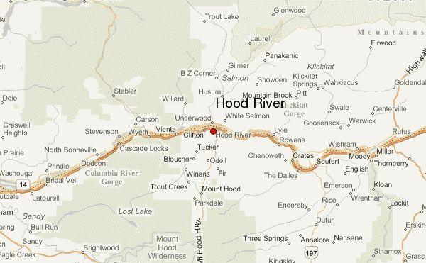 Hood River Location Map Hood River County Oregon United States