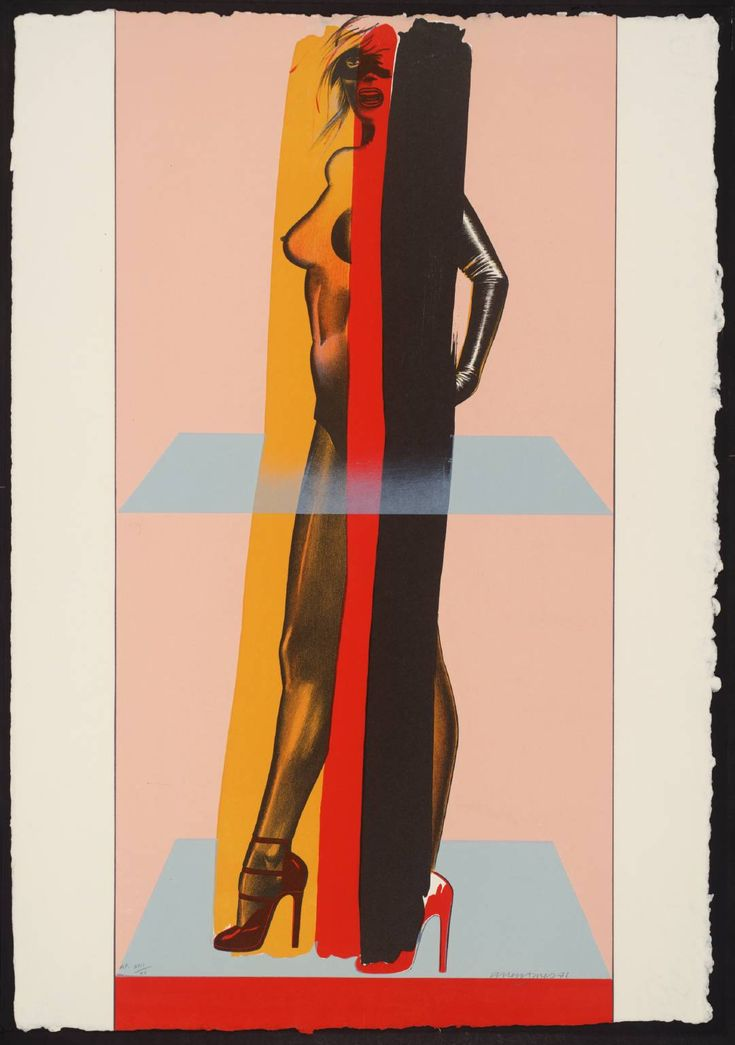 Allen Jones (b. 1937, British), The Magician Suite, Lithograph on paper, 83,9 x 40,9 cm, Tate © Allen Jones