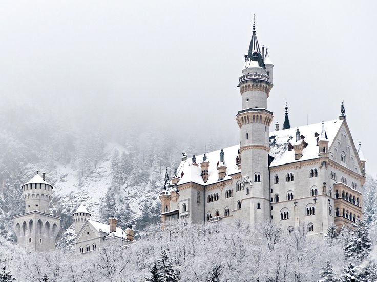 Built in 1886, Neuschwanstein famously served as inspiration for Sleeping Beauty Castle at Disneyland. But unlike the royal home in Anaheim, this clifftop structure gets to transform into an ethereal snow castle during the Bavarian winters.