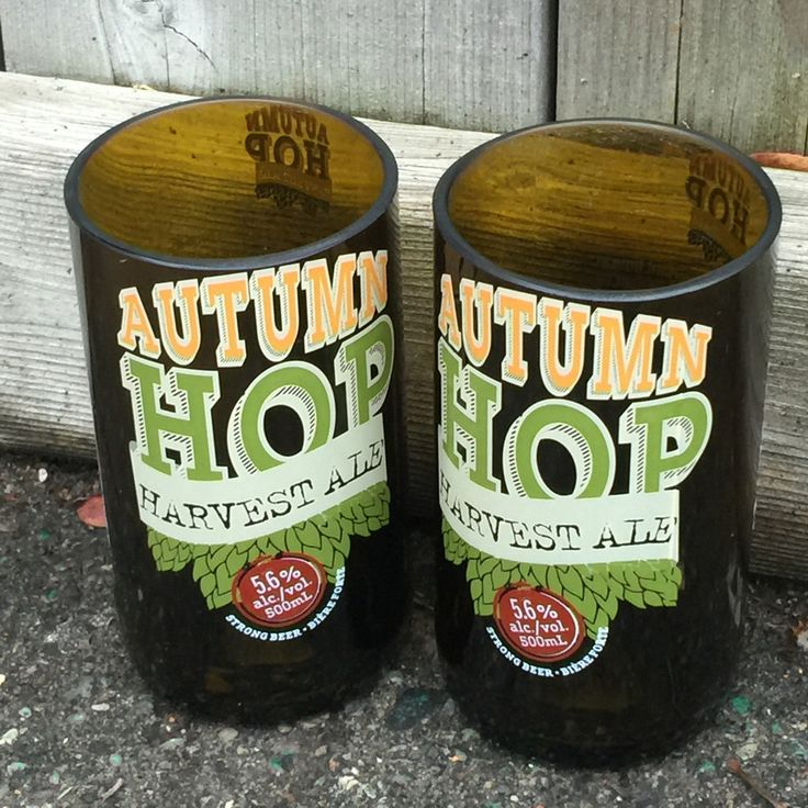 Amsterdam Brewing Co. ' Autumn Hop' Upcycled drinking Glasses. Set of 2