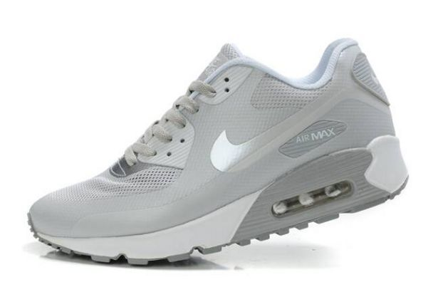 Nike Air Max 90 Hyperfuse Premium Cool Grey/Metallic Silver-White | shoes | Pinterest | Air Max 90, Nike Air Max and Nike Air