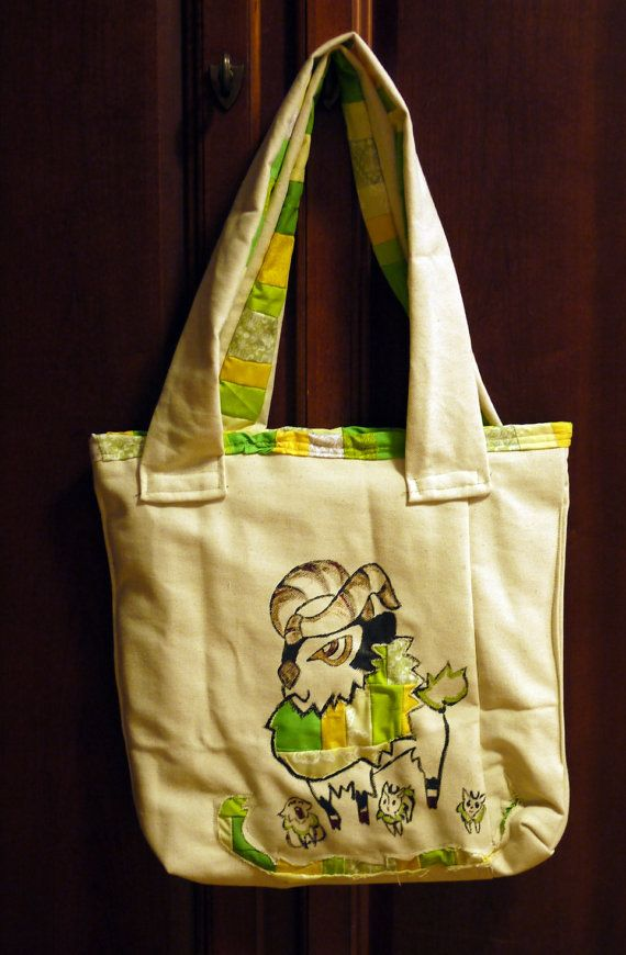 Gogoat and Skiddo Tote by 8bitHealey on Etsy, $32.00