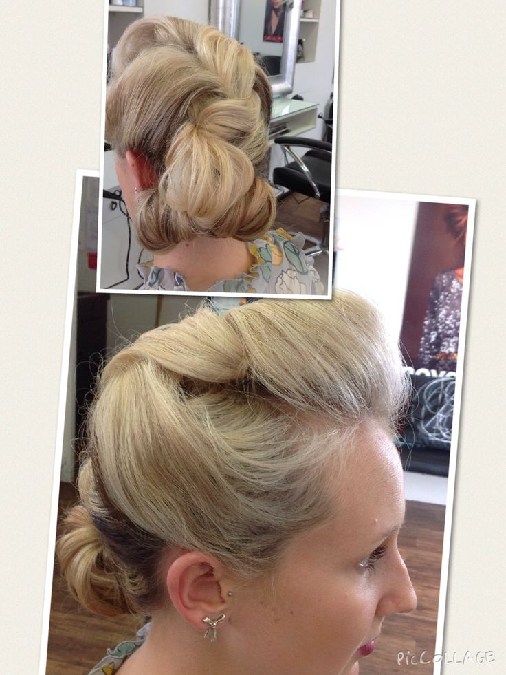 Gatsby party, vintage hair up for Jess