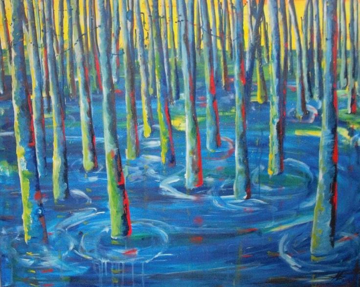 Colorfull trees  Acrylic on canvas  70x100 cm