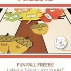 FREE This is an EDITABLE document in which you can type in your OWN sight words or spelling words ONE TIME for hours of fall fun! The words automatically generate to all game pieces like magic!   Check out my other EDITABLE sight word games:  Thanksgiving Sight Word Games  Christmas Sight Word Games  Christmas Sight Word Color Sheets EDITABLE