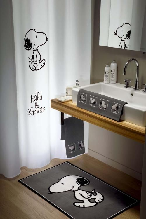 snoopy home decor ~ i promised bailey we could re do the bathroom snoopy cause i refuse to do her room snoopy.. someone find me this bathroom set pretty please
