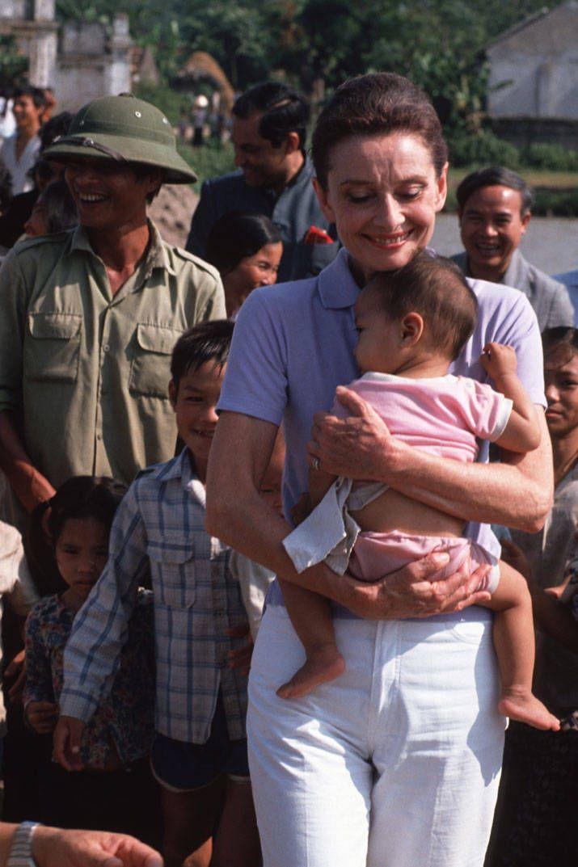 Emma Ferrer, Audrey Hepburn's granddaughter, volunteers with her grandmother's beloved charity, UNICEF.