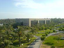 Elche cuenta con tres centros de enseñanza universitaria. Desde 1997 es la sede central de la Universidad Miguel Hernández en donde se encuentran las siguientes facultades: Escuela Politécnica Superior de Elche Facultad de Ciencias Experimentales Facultad de Ciencias Sociales y Jurídicas de Elche