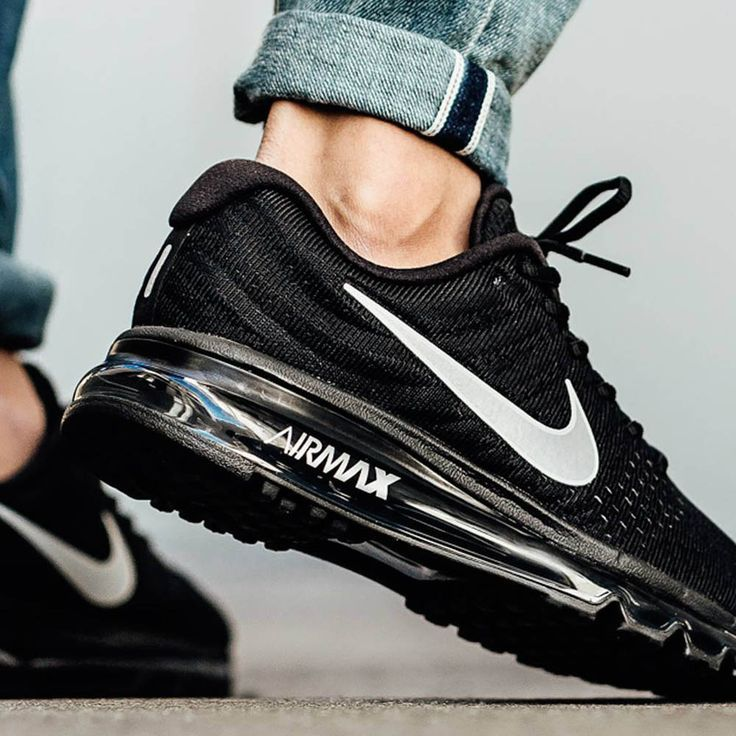 NIKE Air Max '17 Black   Nike free shoes, Nike air max, Running ...