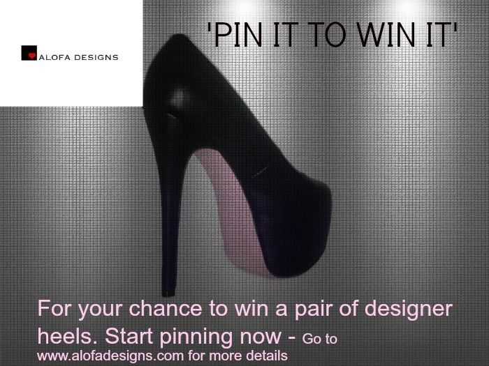 Pin it to win it competition! Pin a photo from this board and you could win it!!!!www.alofadesigns.com Come check out our pink bottom heels and free fashion advice written daily on our fashion blog
