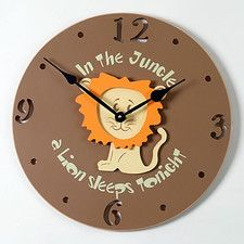 """Lion Kid 18"""" Wall Clock"""