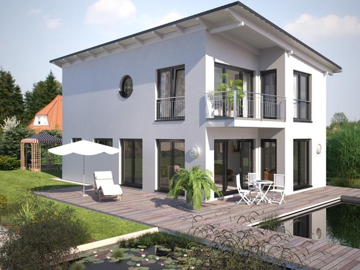Stadtvilla modern mit balkon  Schrägdach | Haus | Pinterest | Musterhaus, Häuschen und Pultdachhaus