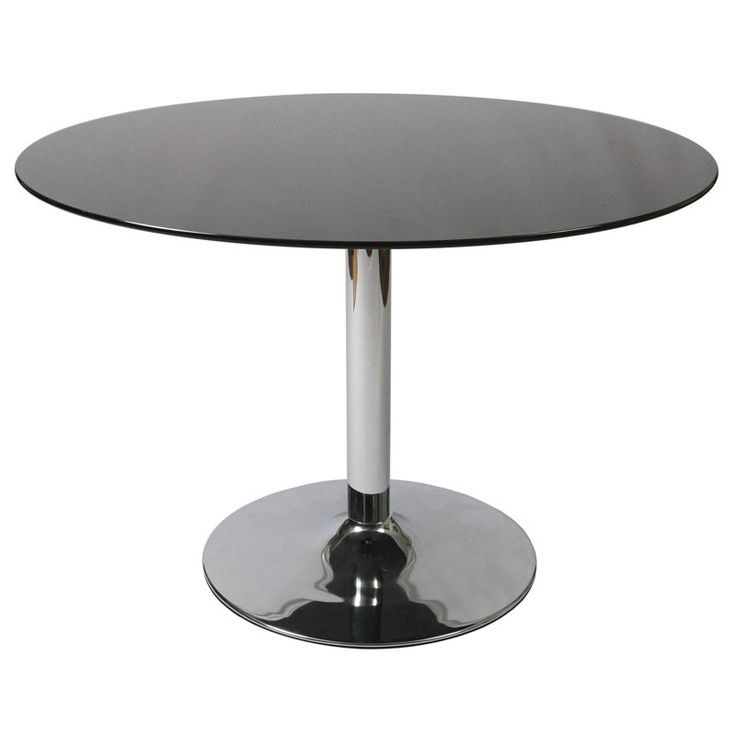 Whether Entertaining Friends Or Enjoying Casual Family Meals, This Sleek  Dining Table Features A Chrome Finished Pedestal Design With A Contrasting  Black ... Part 98