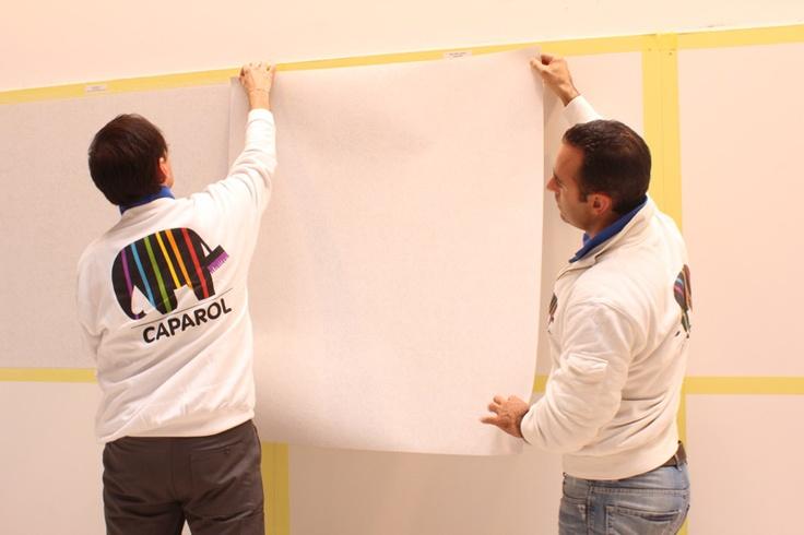I docenti Caparol a lavoro: a sinistra, Davide Graziano e a destra Andrea Della Maggiore.
