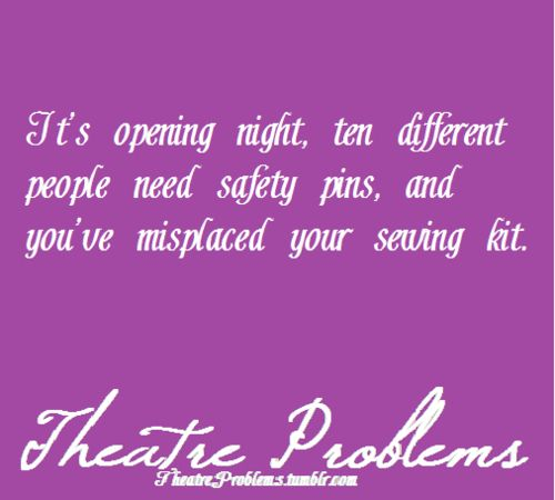 Theatre (theater) problems