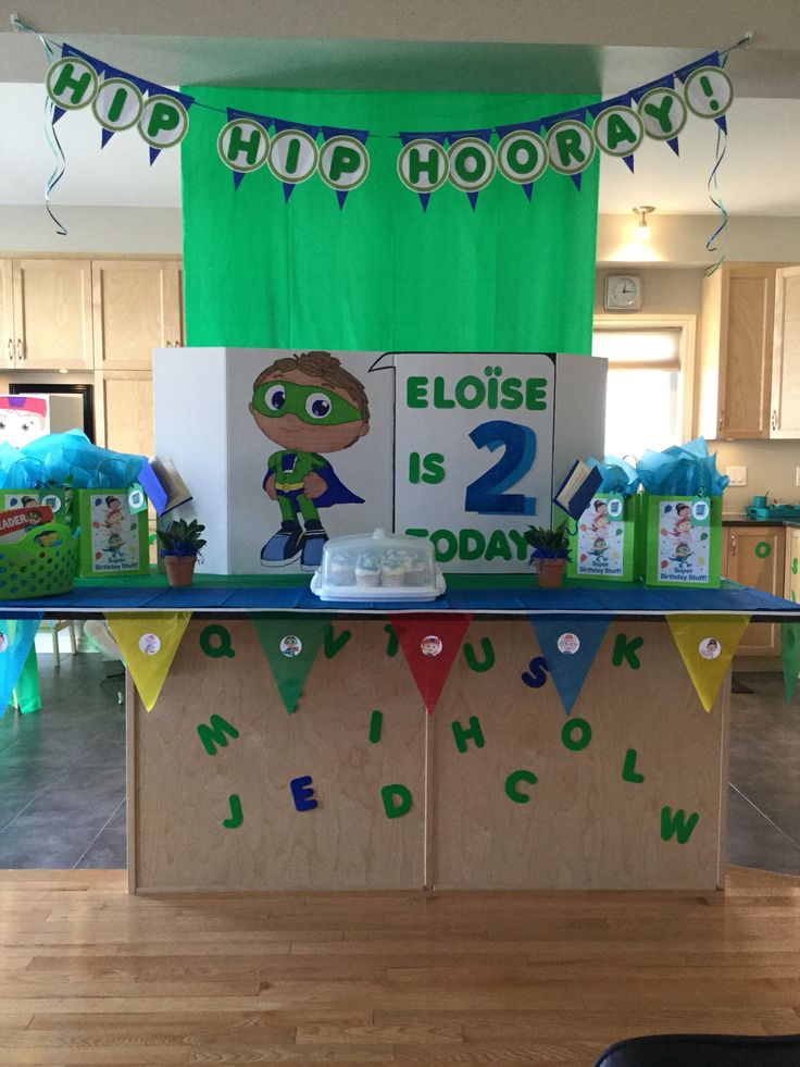 Main table/party focal point. Banner 2 of 2: Hip Hip Hooray...