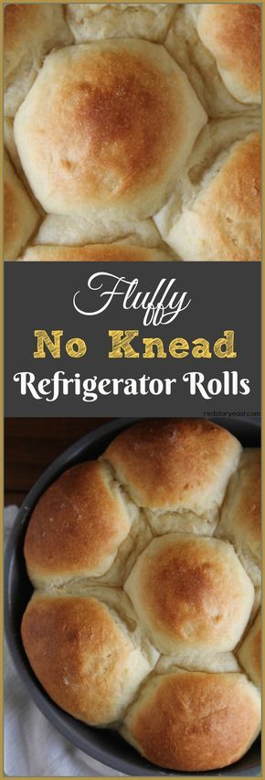 The fluffiest dinner rolls comes from the easiest no-knead overnight dough. Recipe at redstaryeast.com.