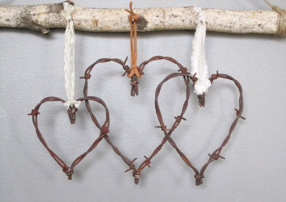 Barbed Wire Valentine   I can't make this but sure know someone who can.
