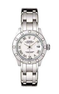 Rolex Ladies White Gold Masterpiece White Dial, (watches, aquaracer, tag heuer, chopard, diamond, dress watches, gold, womens diamond watches, ladies tag watch, luxury)