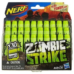 When the zombies strike, you'll be prepped to double- or even triple-tap them with this Zombie Strike Dart Refill Pack! The 30 darts in this big dart...