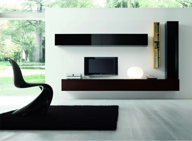 les 25 meilleures id es de la cat gorie meuble tv suspendu sur pinterest tv suspendu tv. Black Bedroom Furniture Sets. Home Design Ideas