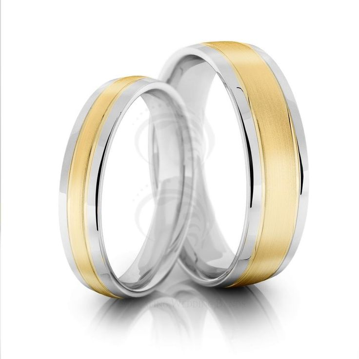 Polish Brush Low Dome Couples Wedding Rings 4mm, 6mm 02022