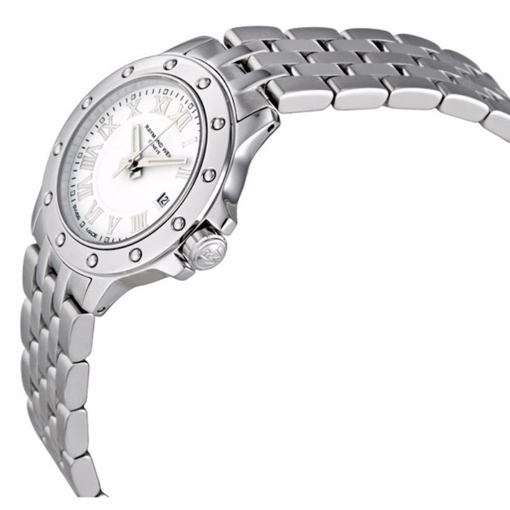 Stylish and authentic watch for women by Raymond Weil. Quartz movement with analog display and the silver color makes it look sophisticated. Pair it with your formal wear and look classy at your workplace. For Rs64000/- Shop at Acebazaar.in: http://acebazaar.in/product/raymond-weil-tango-women-5399-st-00308/