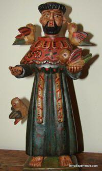 Wood Santos or Saints Figures from Guatemala