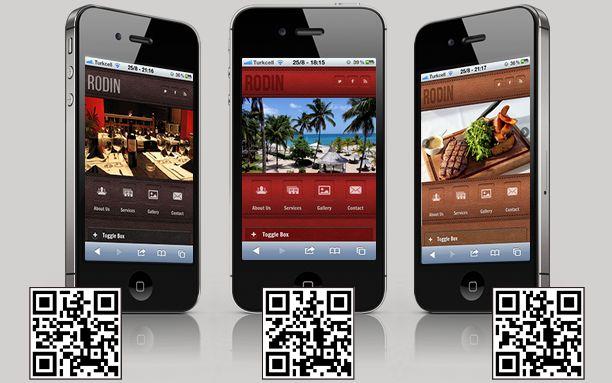 Site Templates - Rodin jQuery Mobile Web Theme | ThemeForest