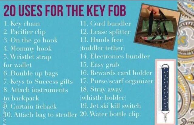 Thirty-One Key fobs! www.mythirtyone.com/TiffanyPhillips31