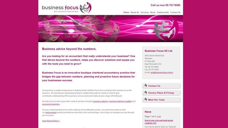 Business Focus is an innovative boutique chartered accountancy practice that bridges the gap between numbers, planning and proactive future decisions for your businesses success.