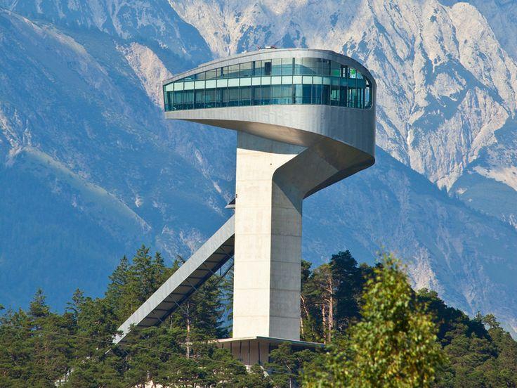 Zaha hadid bergisel ski jump innsbruck austria 2002 for Interior design innsbruck