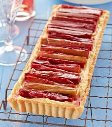 Rhubarb and White Chocolate Tart - Make this delicious tart part of your Easter lunch. White chocolate and orange are the perfect partners for autumn rhubarb.