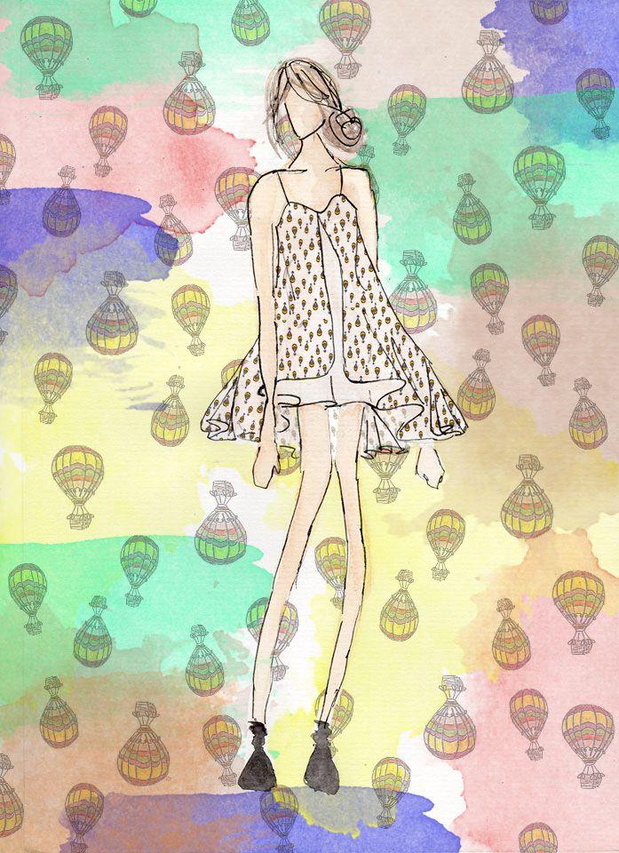 Programação visual do trabalho de Projeto de Varejo de moda da UVA - Aluna Priscila França e Grupo. Estampa Corrida