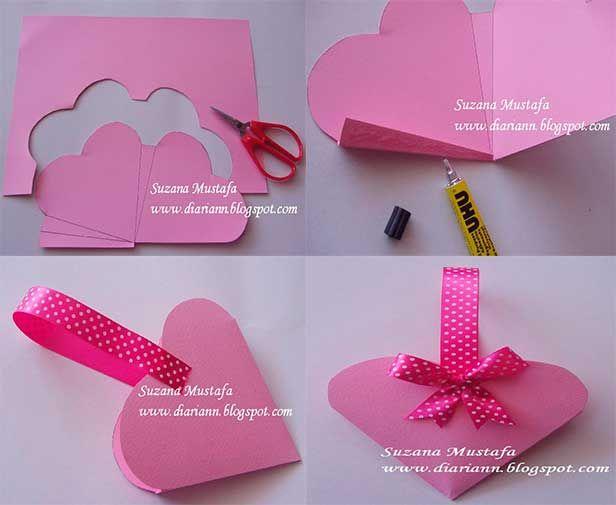 C mo hacer una caja de dulces con forma de coraz n cvr for Formas para decorar una casa