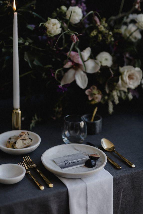 Moody modern wedding inspiration