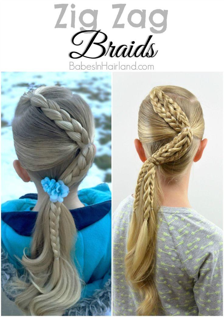 Zig Zag Braids from BabesInHairland.com #hair #braids #ponytail #hairstyles