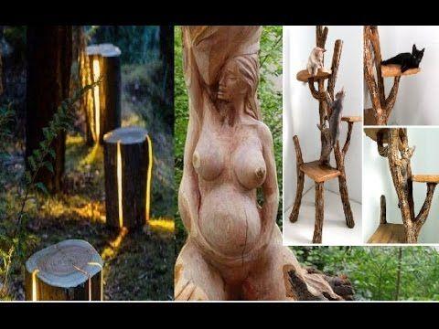 ideas Creativas para reciclar troncos de árboles y decorar tu hogar con ...