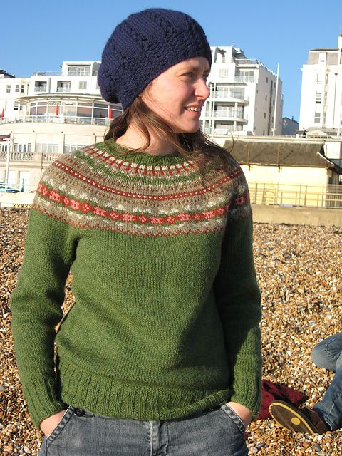 Ravelry: Fair Isle Yoke Cardigan pattern by Elizabeth Zimmermann