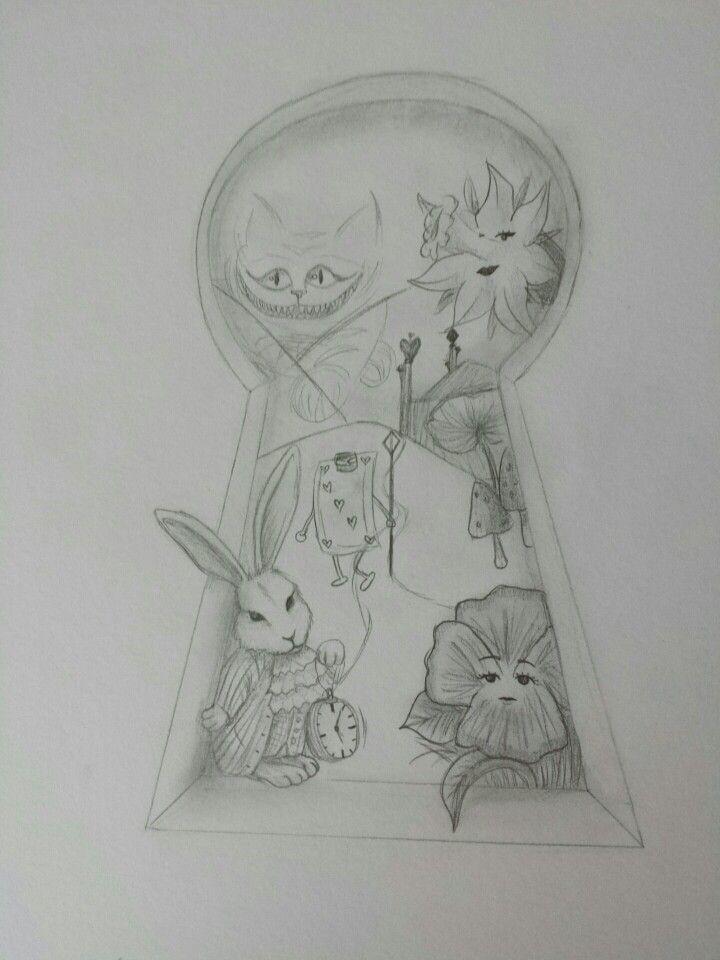 Alice Im Wunderland Zeichnung Alice Im Wunderland Zeichnungen