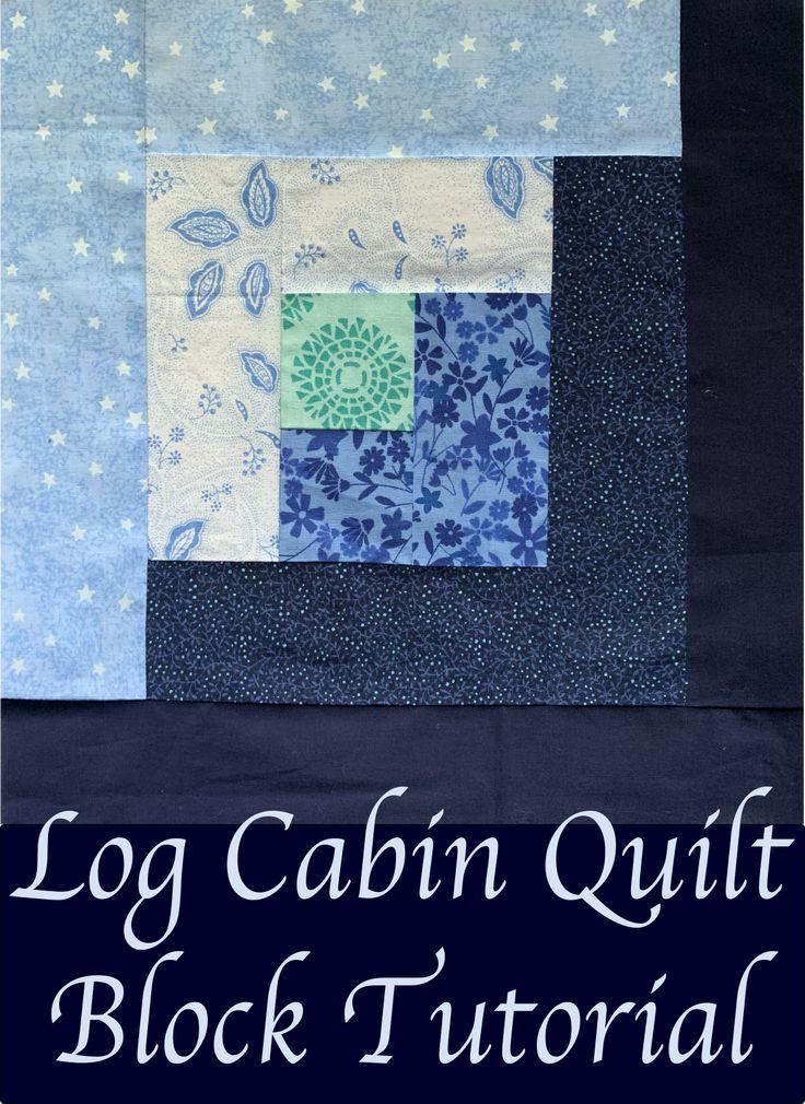 Log Cabin Quilt Block Tutorial