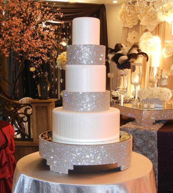 Crystal Cake Stand 20 Round By Poshweddingdecor On Etsy 425 00