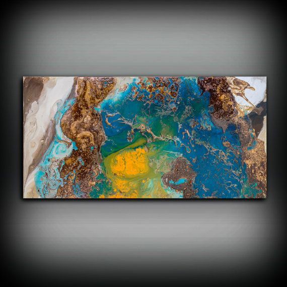 Copper Painting Coastal 24 x 48 Acrylic Painting от LDawningScott