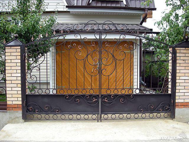 Садовые въездные ворота от  компании doorso.info