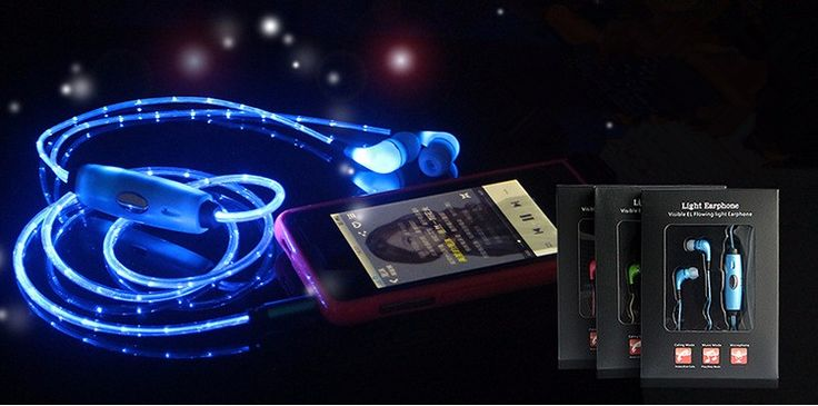 Jack 3.5 Sport In-ear Glowing Flash Pulse Cable LED Glow Light Pulse Music Luminous Earphone Stereo Earpiece with Microphone   Read more at Electronic Pro Market : http://www.etproma.com/products/jack-3-5-sport-in-ear-glowing-flash-pulse-cable-led-glow-light-pulse-music-luminous-earphone-stereo-earpiece-with-microphone/  	Visible Flowing LED Flashing Earphone Light Glow Sport Stereo Headset Earbud Earphone with Mic for Smart Phone IOS/Android 			Note:		  			Please charge