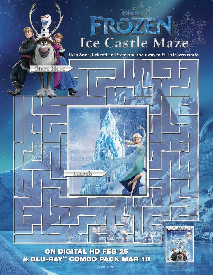Help Anna, Kristoff and Sven find their way to Elsa's frozen castle.