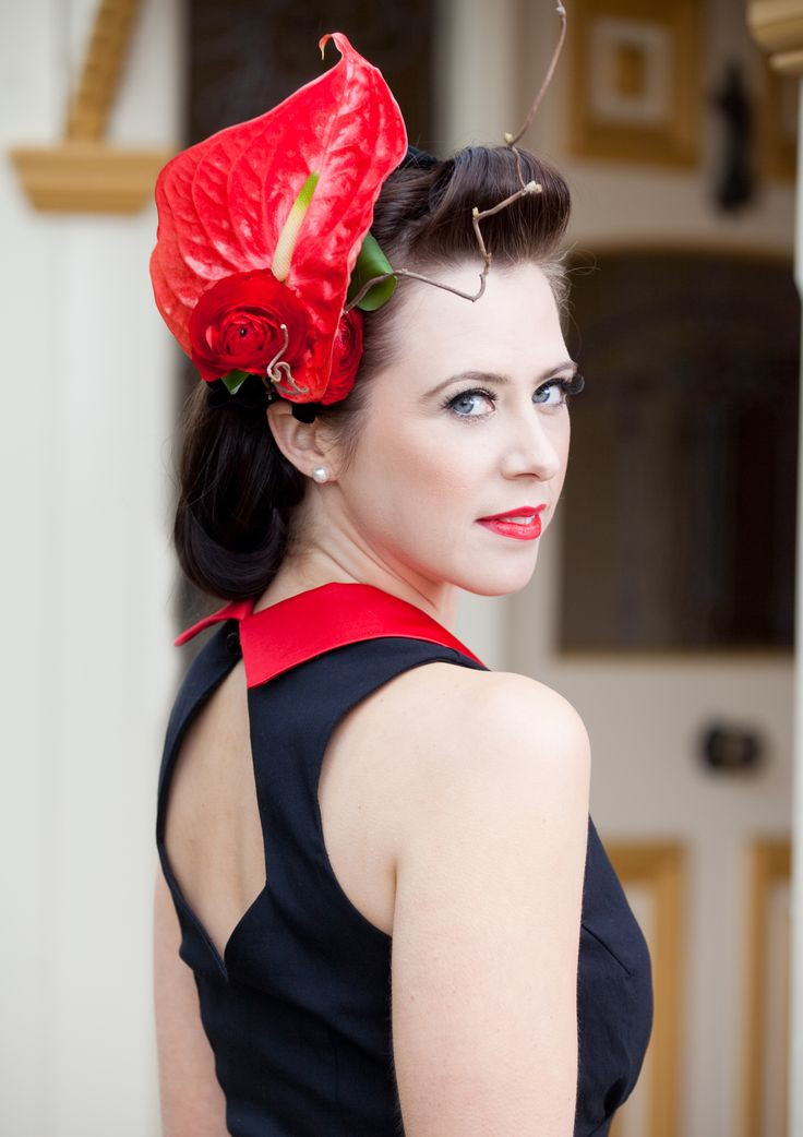 Make a dramatic statement with flowers - turn a simple dress into a stunner #springracing #racewear #flowersoftheday