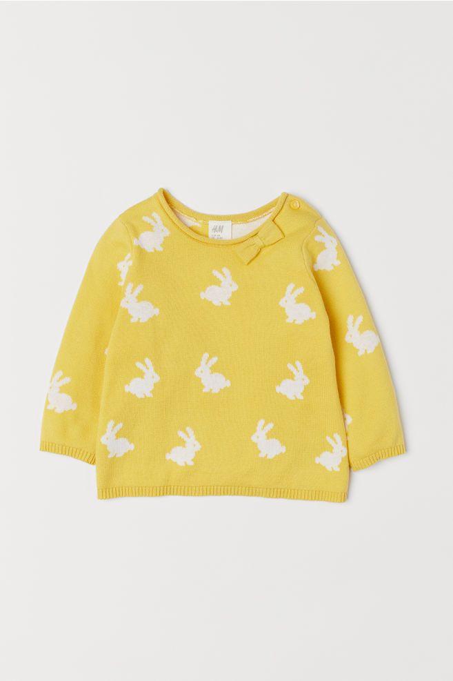 Fine knit Sweater Yellowrabbits Kids | H&M US | Fine
