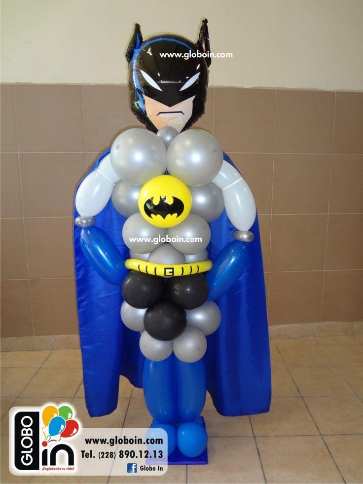 Figura De Batman En Globo Personajes Hechos Con Globos